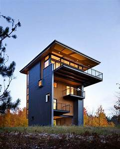 Tower, House, Sustainable, Retreat, By, Prentiss, Balance, Wickline, Architects