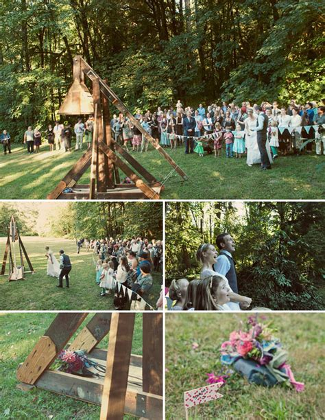 Real Wedding Katie Camerons Camp Wedding Green