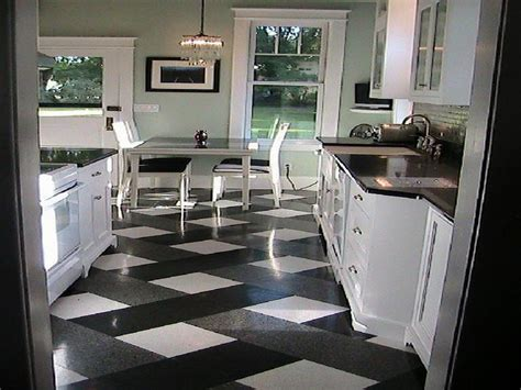 Black And White Kitchen Flooring Model Home Furniture Sacramento At Pune Office Computer Desk Stage For Sale Modular White Uk Abc Carpet And Sarasota