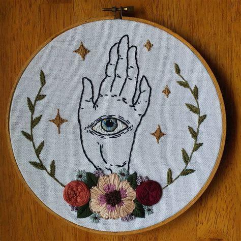 seers hand original embroidery   hoop