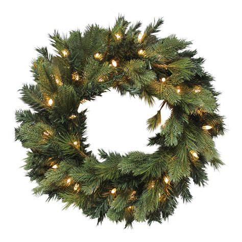 luxury pre lit artificial pine wreath christmas decoration