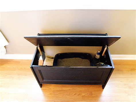 Bench Litter Box by Diy Cat Litter Box Furniture Alewood Furniture Co