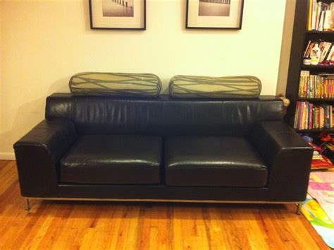 leather slipcover for ikea kramfors sofa by comfort works