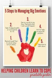 5 Steps to Managing Big Emotions: Printable