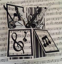 Use sheet music circles layered on scallop circles, top