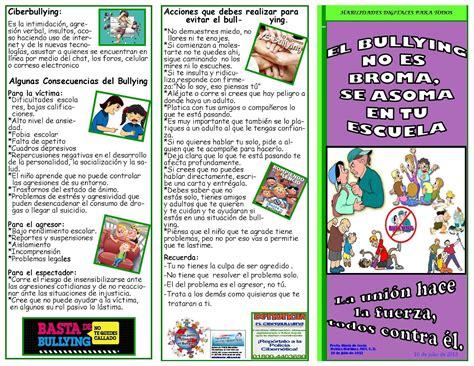 Tripticos del bullying Imagui