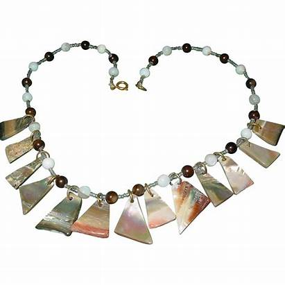 Necklace Abalone Pearl Mother Disc Choker Coventry