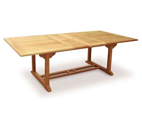 dorchester teak 3m extendable garden table and 10