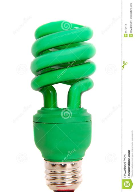 energy efficient green light bulb stock images image
