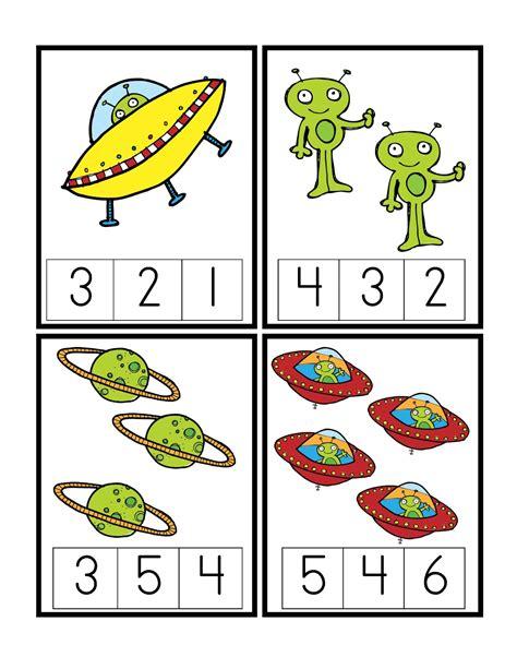 preschool printables space patterns math children