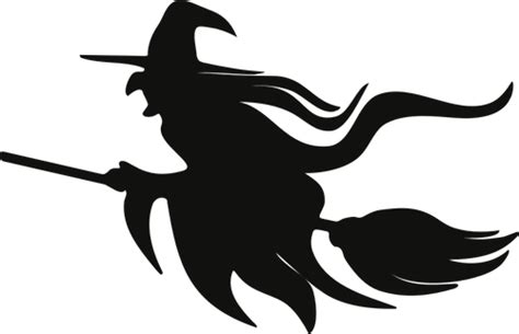 library  flying witch silhouette clip library png files
