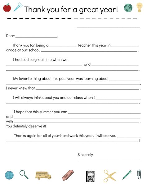 year teacher   note notes template