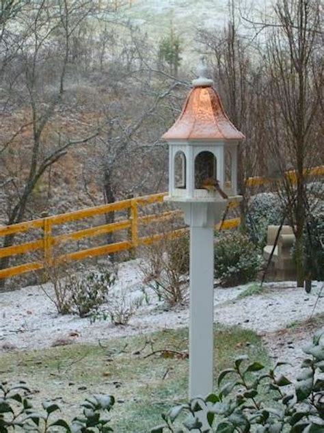 food water shelter  winter copper vinyl post mounted