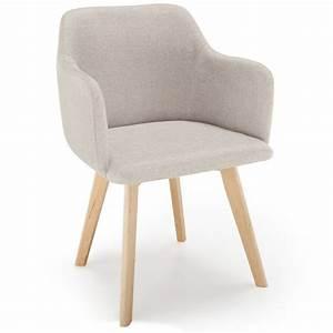 Chaise Bébé Scandinave : chaise scandinave design tissu beige pas cher scandinave deco ~ Teatrodelosmanantiales.com Idées de Décoration