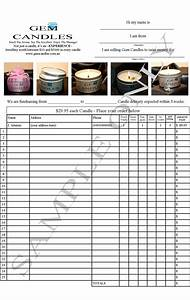 fundraise with gem candles 33 profit in your pocket With candle order form template