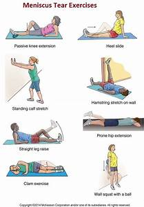 Medial Meniscus Tear Treatment Plan  U0026 Exercises