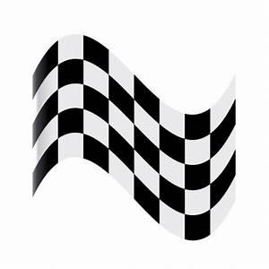 Damier Noir Et Blanc : sticker drapeau damier noir et blanc univers automobile ~ Dallasstarsshop.com Idées de Décoration
