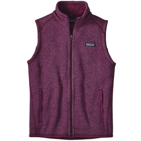 patagonia womens  sweater fleece vest violet red cleanline surf