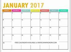 The Free Printable 2017 Calendar by Free Printable 2017