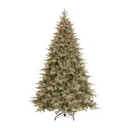 general foam 75 ft pre lit siberian frosted pine artificial christmas tree with clear lights and pine cones tree artificial tree frosted