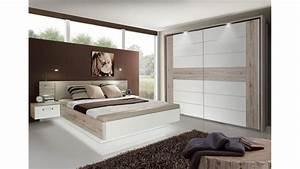 Schlafzimmer Hochglanz Weiß : schlafzimmer set rondino sandeiche wei hochglanz inkl led ~ Frokenaadalensverden.com Haus und Dekorationen