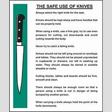 Safe Use Of Knives Sign  Ssp Print Factory