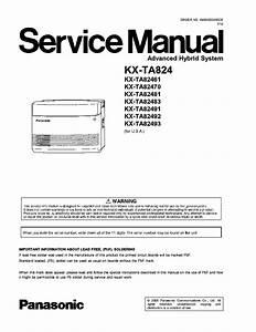 Panasonic Kx Ta308 User Manual