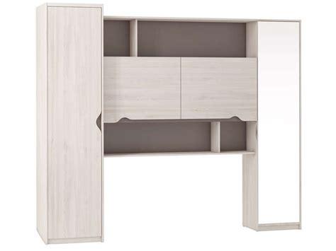meuble chambre adulte pont pour lit 140 cm vision coloris chêne cyprès vente