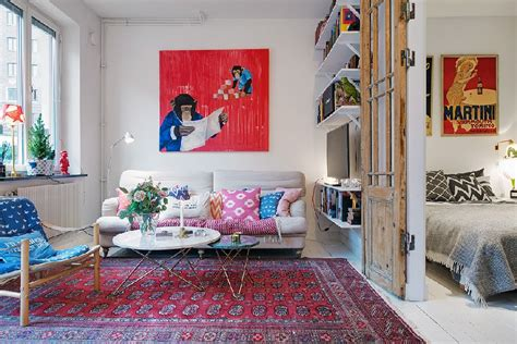 blue rug living room a tiny apartments roundup 500 square or less spaces