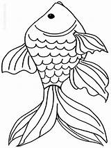 Coloring Pages Goldfish Fish Print Printable Recommended Goldfishes Mycoloring sketch template