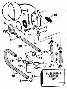 Evinrude 1992 25 - E25rwlenb  Fuel Pump