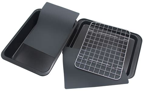 toaster baking convection bakeware ovens accessories trays rack oven silicone pans nonstick mats includes piece checkered chef cookware amazon
