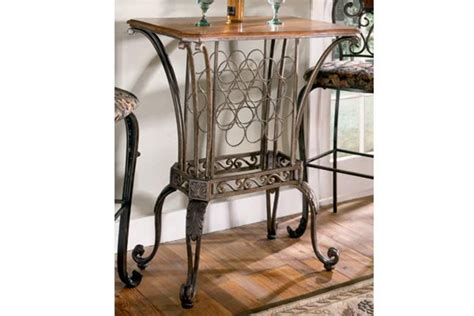 kitchen collection outlet store pub table with wine rack at gardner white