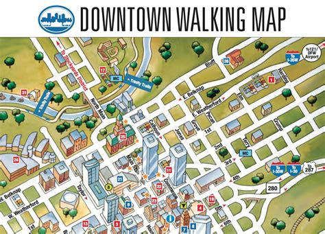 Map of downtown Fort Worth - Fort Worth downtown map ...