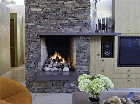 stone fireplace design providing warmth  living room