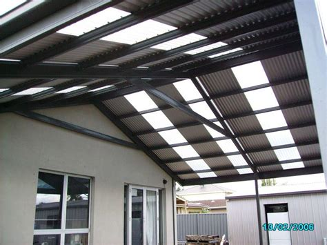 laser light roofing  pergolafrom colorbond