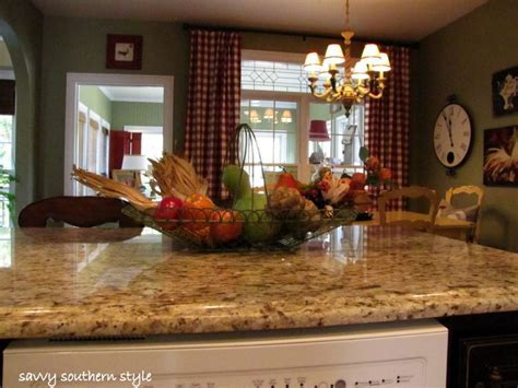 French country kitchen   love the counter tops, the wall