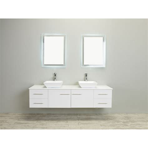 60 inch double sink vanity top eviva totti wave 60 inch white modern double sink bathroom