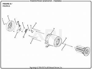 Homelite Ps905000a Powerstroke 5 000 Watt Generator Parts Diagram For Figure A