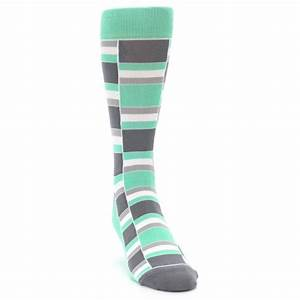 Green Grey Stacked Men's Dress Socks Statement Sockwear