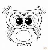Coloring Owl Printable Cartoon Pdf Flying sketch template