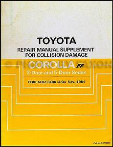 1987 Toyota Corolla Rwd Repair Shop Manual Original