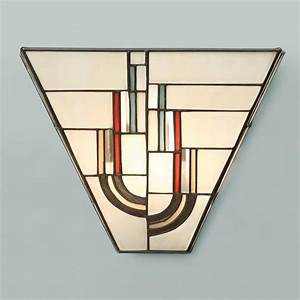 Tiffany art deco wall light with decorative stained glass for Kitchen cabinets lowes with art nouveau wall sconce