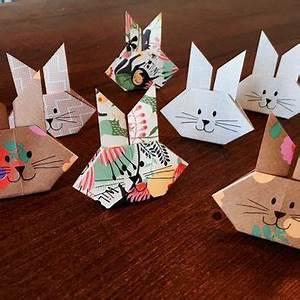Hase Basteln Einfach : oster origami bunny hasen einfach falten ostern pinterest ~ Orissabook.com Haus und Dekorationen
