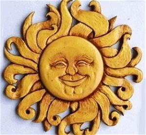 sun face wall art shop garden treasures glass mosaic sun With kitchen cabinets lowes with celestial sun wall art