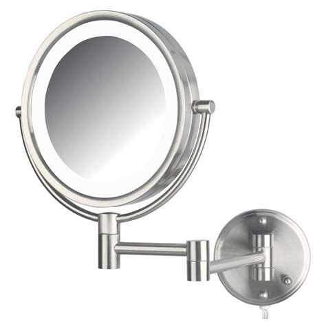 lighted makeup mirror amazon amazon com jerdon hl88nl 8 5 inch led lighted wall mount
