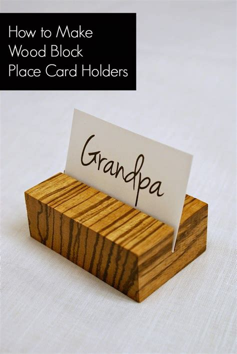 wooden place card holders place card holders