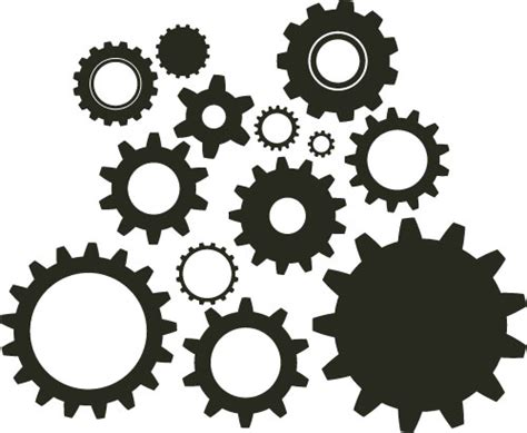 Gears Vector Clip Art