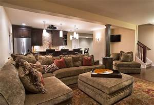 Cozy Home Theater - Traditional - Basement - other metro