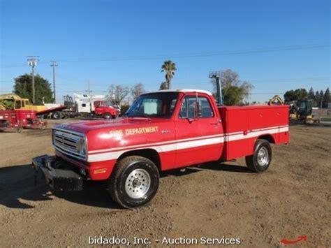Buy Used Dodge W20 4x4 Regular Cab Fire Service Truck